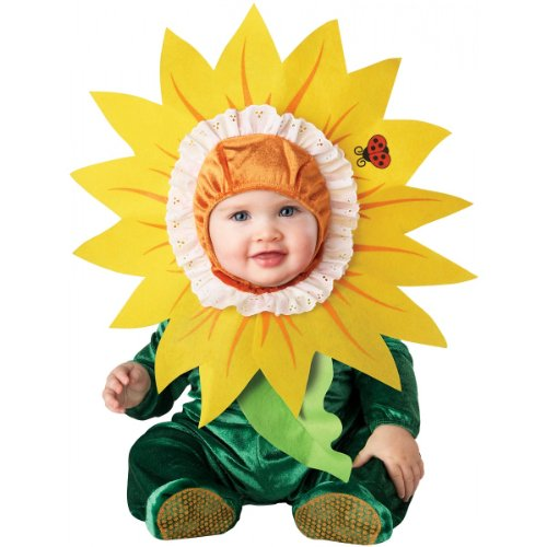 InCharacter Costumes Baby's Silly Sunflower Costume, Green/Yellow,