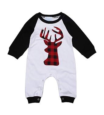 41eef6fc3 Amazon.com  Newborn Boys Girls Christmas Costume Long Sleeve Deer ...