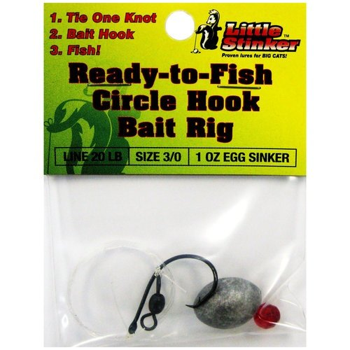 Little Stinker LS Cbr-3/0 Circle Hook Catfish Rigs Fishing attractant