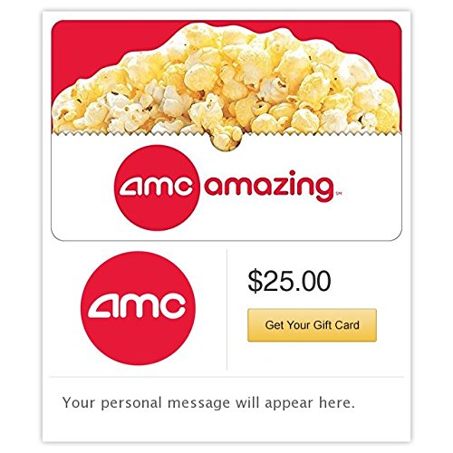 AMC Theatres Popcorn Gift Cards - E-mail Delivery (Best Electronic Gift Cards)