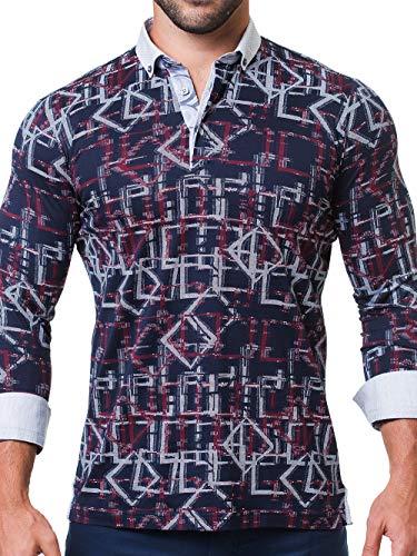 Maceoo Mens Designer Polo - Stylish & Trendy Sport Shirts - Newton Black Hero - Tailored -