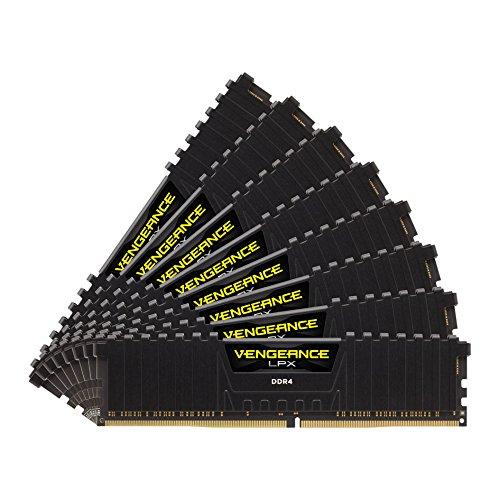 Corsair CMK64GX4M8A2400C14 Vengeance LPX 64GB (8 x 8GB) DDR4 DRAM 2400MHz (PC4-19200) C14 memory kit for DDR4 Systems