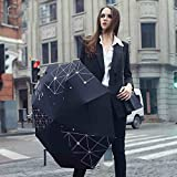Black Black Umbrella Upf 50+ Parasol Womens Rain Umbrella Business Pg-Cloth Sun-Proof