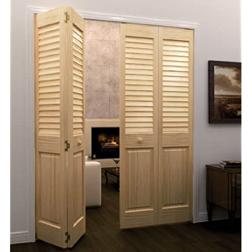 Closet Door, Bi Fold, Louver Panel Plantation 1x36x80