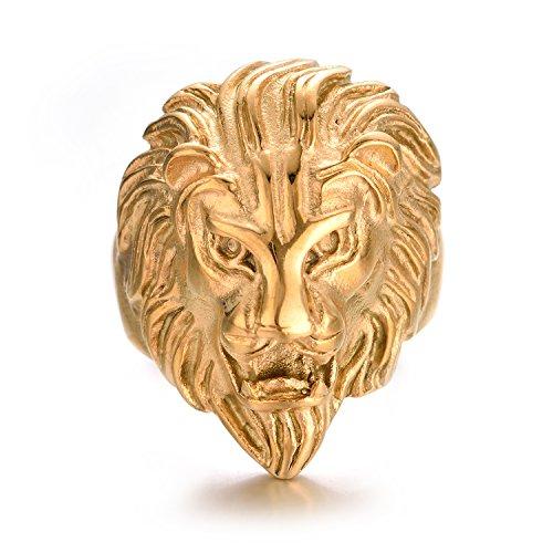 lion head ring - 8