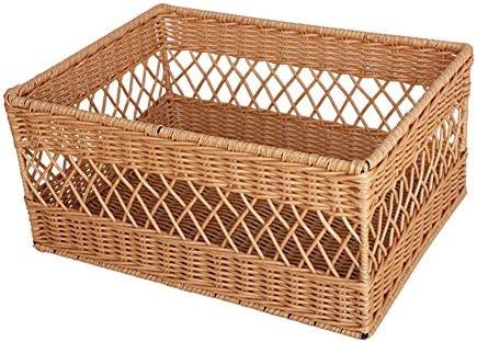 ZHANGQIANG cesto para la Colada Laundry Basket Cofre de Almacenamiento Grande de Mimbre Blanco/Cesta/Caja de Juguetes/Cesto de Regalo (Color : Amarillo, Tamaño : Large): Amazon.es: Hogar