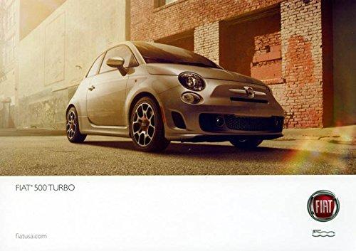 2015 Fiat 500 Turbo ORIGINAL Large Factory Postcard