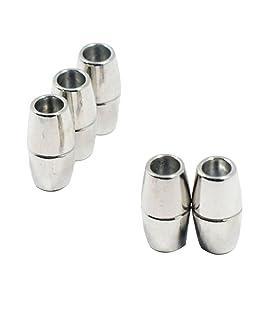 Sharplace 5X Fermoirs Bijoux Collier Embouts Fermoir Bracelet Connecteurs Serrage Magnétiques DIY - Blanc