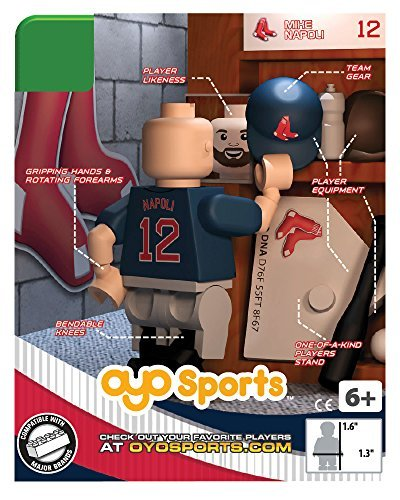 Mlb Boston Red Sox Mike Napoli Generation 4 Mini Figure  Small  Black