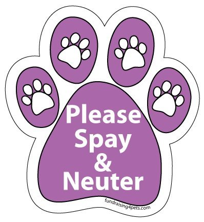 Please Spay & Neuter Paw Magnet - Purple - Neuter Magnet