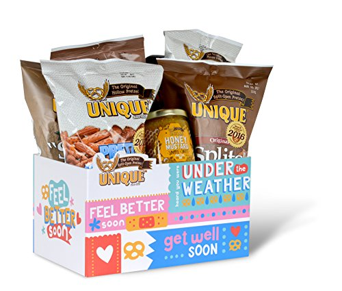 Unique pretzels get well gift basket box 7 1 pound for Unusual get well gifts
