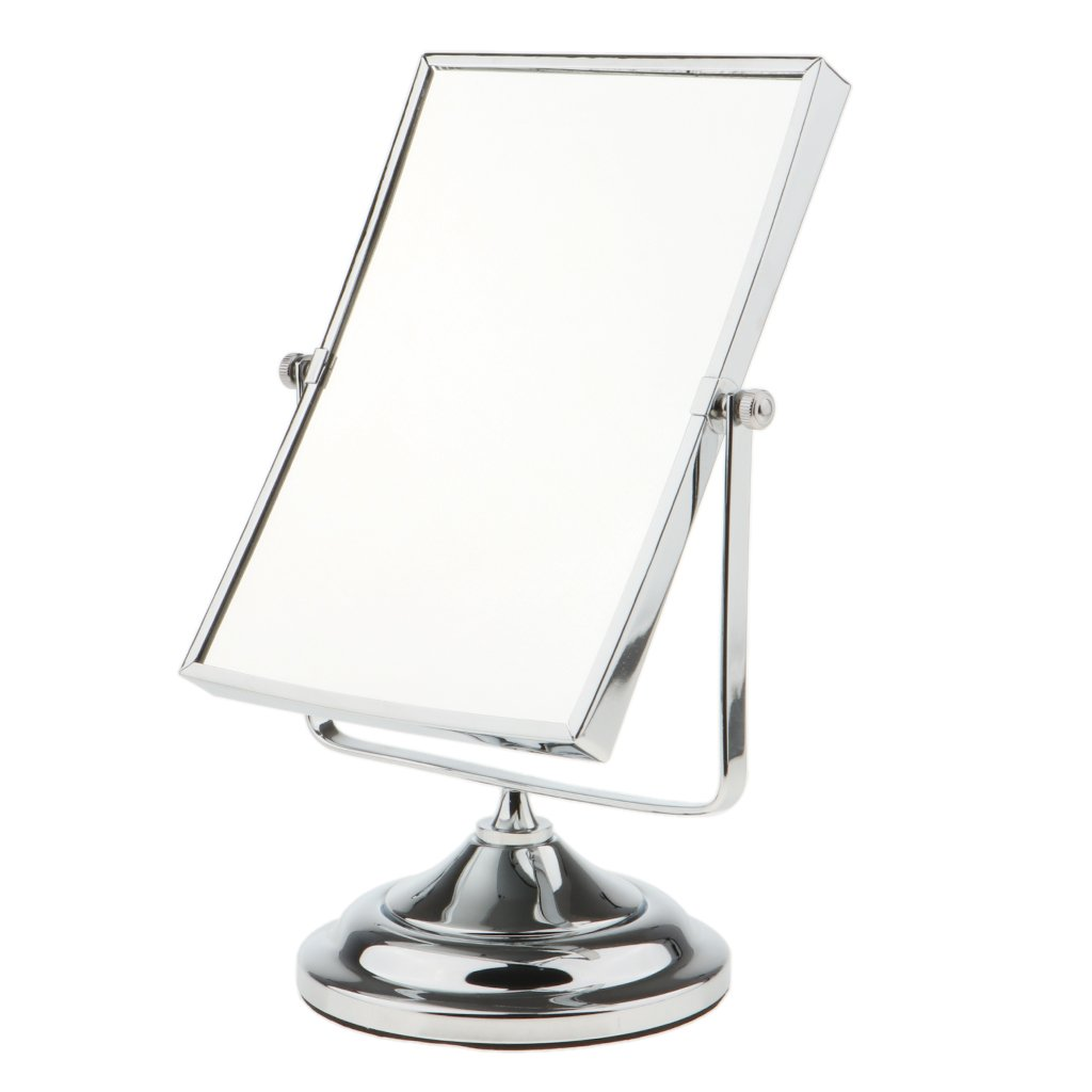 MagiDeal Dual-Side 3x & 1x Magnified Swivel Vanity Mirror Tabletop Rectangular Cosmetic Mirror Free Standing by MagiDeal