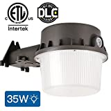Amico Dusk-to-Dawn LED Outdoor Barn Lights (Photocell Included), 35W(260W Equiv.) 3700lum Daylight, 5000K Yard Light Waterproof, DLC & ETL-Listed, Led Floodlight for Steet Area Lighting (1 Pack)