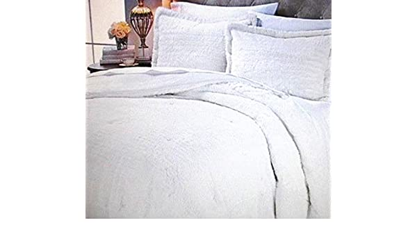 8def82535dae Amazon.com: A by Adrienne Landau Faux Fur Comforter Set (Winter White) Queen:  Home & Kitchen
