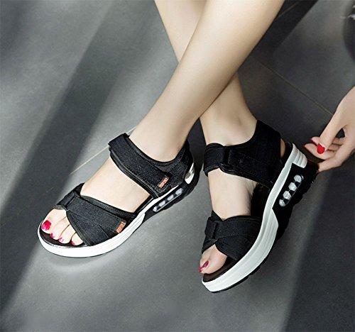 De Muffin Meili Velcro Shoes Mujer Sandalias Bottom xZq70xnPpw