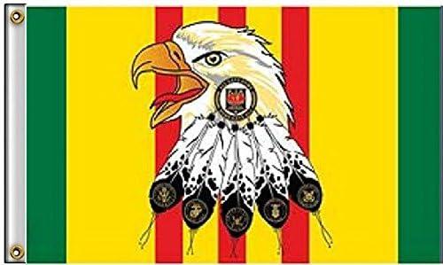 3 x 5 Kia muerto en acción Eagle Vietnam Veteran ribbon banner ...