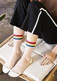Generic 2-pack_ women girls socks girls women girls stockings women girls socks Summer _ultra-thin_transparent_ glass silk women girls stockings ,_ Korean style women girl _striped_ college _wind