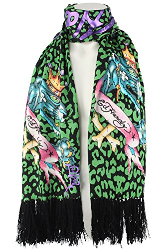 Ed Hardy Womens Girl (Ed Hardy Womens Panther Knit Scarf)