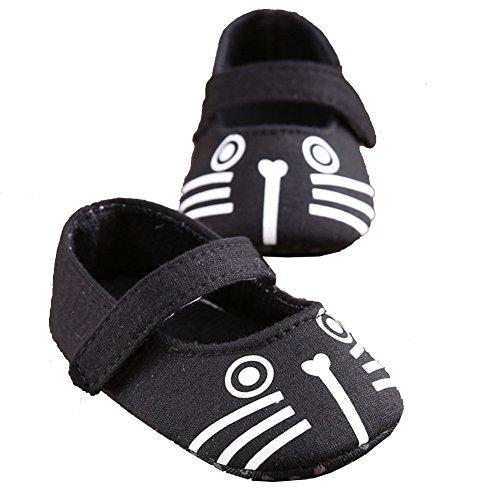 Zapatos de Bebé Niña Zapatos Antideslizantes Para Niños Pequeños Negro
