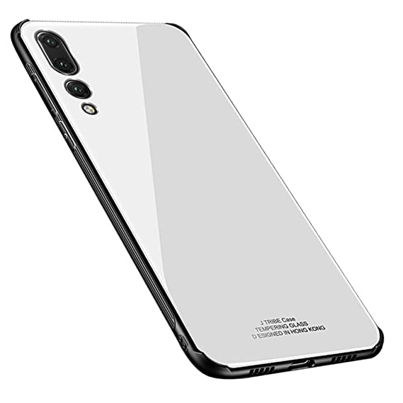 quality design 4a016 b0d13 Kepuch Quartz Huawei P20 Pro Case - TPU + Tempered Glass Back Cover for  Huawei P20 Pro - White