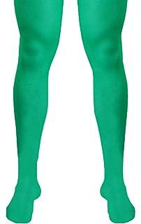 9d1e2ab2e6011 Adult Mens Green Plain Tights New Fancy Dress Christmas Xmas Elf ...