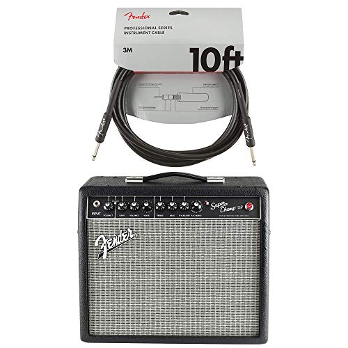 - Fender Super-Champ X2 15w 1x10 Tube Modeling Combo Cable Bundle