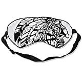 Tribal Tattoos Silk Sleep Mask Soft Eye Mask Blindfold Blocks Light Eye Cover with Adjustable Strap