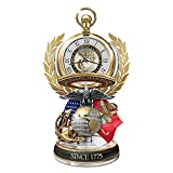United States Marine Corps Semper Fi Pocket Watch With Fact Cards by The Bradford Exchange