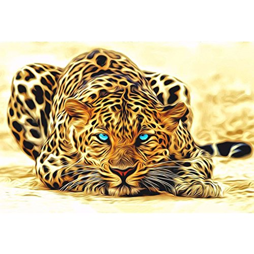 LovetheFamily 数字油絵 数字キット塗り絵 手塗り DIY絵 デジタル油絵 金色の豹 40x50cm ホーム オフィス装飾の商品画像