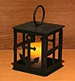 Made in USA Anchor Themed Steel Candle Lantern