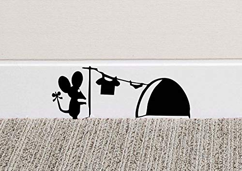 213B Mouse Hole Wall Art Sticker Washing Vinyl Decal Mice Home Skirting...