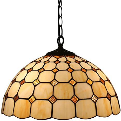 Lampada a sospensione in stile tiffany, mini lampada a