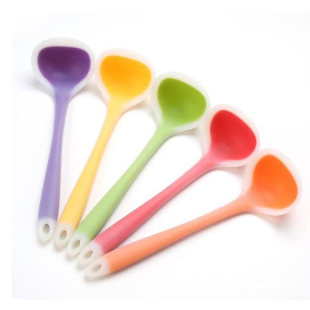 CAN_Deal Kitchen Colorful Silicone Deep Ladle / Soup Ladle, Random Color