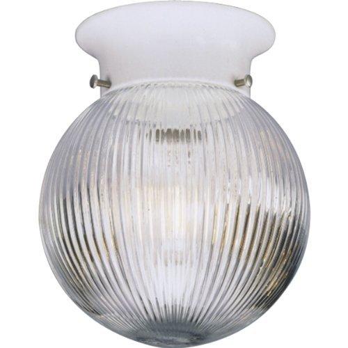 - Progress Lighting P3599-30 Clear Ribbed Glass Globe K.O For Switch, White by Progress Lighting