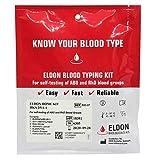 2 Pack Eldoncard Blood Type Test (Complete Kit) - air sealed envelope, safety lancet, micropipette, cleansing swab
