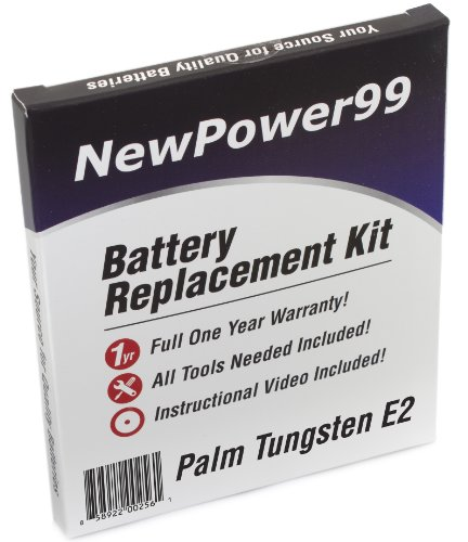 (Palm Tungsten E2 Battery Replacement Kit with Installation Video, Tools, and Extended Life Battery.)