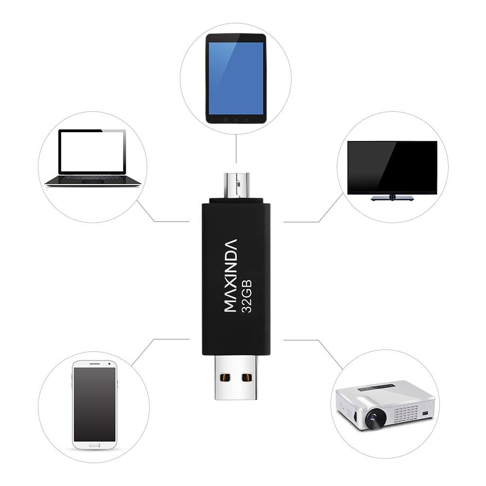MAXINDA 2 IN 1 Chiavette USB 2.0 da 32 Gb OTG Micro USB per Android Telefono / Tablet / PC