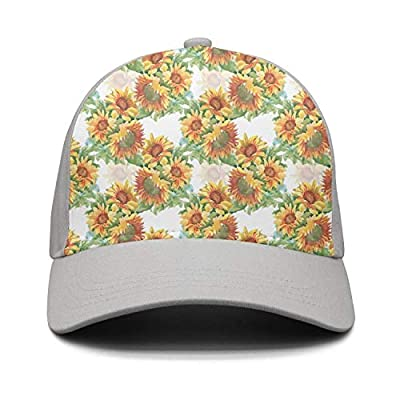 Wlpjsjkd Unisex Oil Painting Colorful Floral Sunflowers Funny Baseball Visor Hats