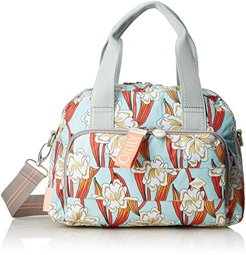 B Turquoise Turchese Ruffles 15x22x32 Donna 1 H Light Handbag Oilily T Borsa cm Ornament Mhz x nTx7wfCqg