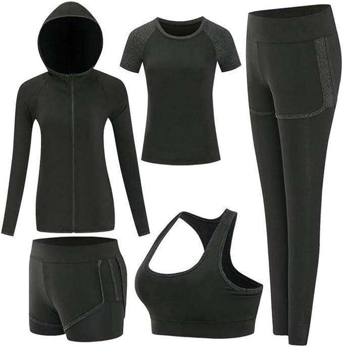 Amazon.com: Zetiy - Conjunto de 5 piezas de ropa deportiva ...