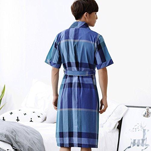 Sezione Medio Per Casa Degli Da Sonno Zlr In Sottile Il Camicia Estivi Parte Puro Pigiama Accappatoi Multicolore Uomini Cotone lunga Abbigliamento Z18wFqw