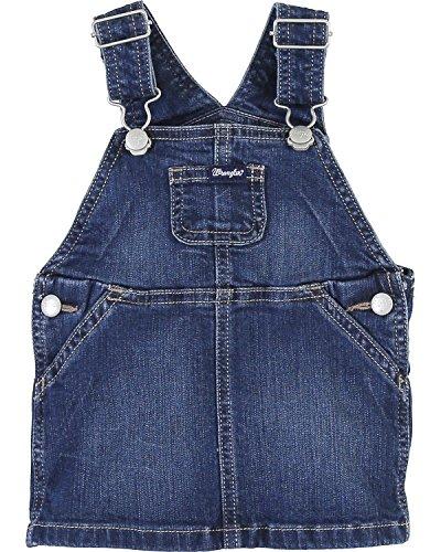 Wrangler Toddler-Girls' Skirt Overalls Indigo (Barn Girl Overalls)