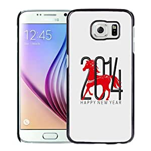 New Personalized Custom Designed For Samsung Galaxy S6 Phone Case For 2014 Year Of The Horse Phone Case Cover