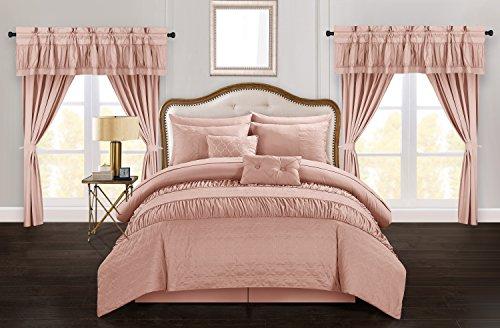 Chic Home Mykonos 20 Piece Comforter Set, King, Coral ()