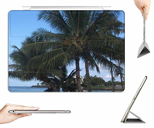 iPad Air Case + Transparent Back Cover - Ala Moana Beach Park - [Auto Wake/Sleep Function] [Ultra Slim] [Light - Ala Store Moana