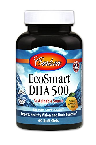 Carlson EcoSmart DHA, Calamari Oil, 500 mg DHA, 60 Soft Gels For Sale