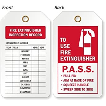 One Year Only 680 Pack Plastic Inspection Tag