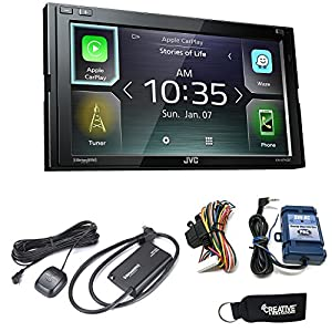 JVC KW-M740BT Compatible with Apple CarPlay, Android Auto 2-DIN (No CD Drive), Steering Interface, Sirius XM SXV300