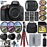 Nikon D5600 DSLR Wi-FI NFC 24.2MP DX CMOS Camera AF-S 18-140mm VR Lens + LED Light kit + Wide Angle & Telephoto Lens + 7PC Filter Kit + Camera Case - International Version