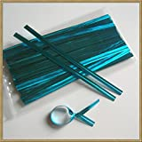 1000pcs 4'' LIGHT BLUE metallic twist ties foil twist ties for cello bags treat bags in birthday party wedding party